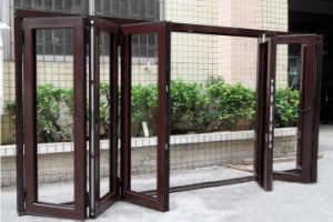 High Quality Thermal Break Aluminum Folding Door K07008 pictures & photos