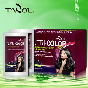 Tazol Nutri-Color Semi-Permanant Hair Color Mask with Light Brown pictures & photos