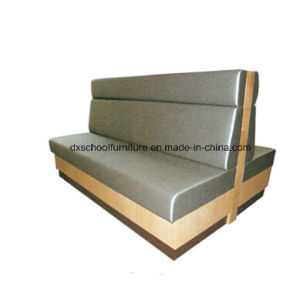 Commercial Style Grey PU Leather Two-Seater Sofa Booths pictures & photos