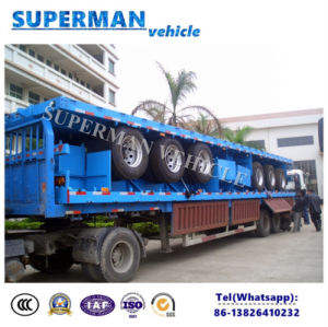 Tri Axle 40FT Flatbed Cargo Semitrailer for Container/ Cargo/ Wood pictures & photos