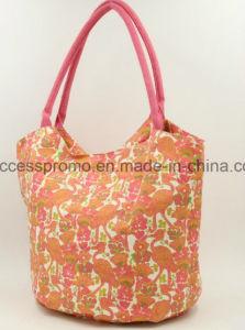 Custom Printed 10oz Canvas Tote Bag in Orange Color pictures & photos