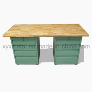 Beech Surface Steel Frame Metal Cabinet Workbench Work Table pictures & photos