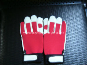 White Leather Glove-Cow Leather Glove-Work Glove-Safety Glove-Protected Glove pictures & photos