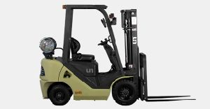 Un 1.5t LPG/Gasoline Forklift with Engine Nissan K21 pictures & photos