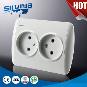 2 Gang 2 Pin Wall Socket Non-Grounding pictures & photos