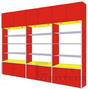 4 Level Double Sides Library Furniture Bookshelf pictures & photos