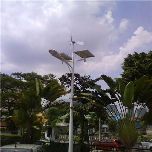 80W with Wind Hybrid Solar Street Pole Lighting (BDSW998) pictures & photos