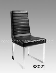 Cheap Black Leather Without Armrest Chair for Home pictures & photos