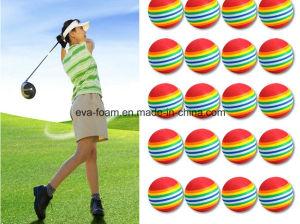 Rainbow EVA Foam Indoor Practice Golf Balls Training Ball Dia 40mm 60mm