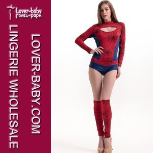 Sexy Halloween Party Spider Woman Costume (L15249) pictures & photos