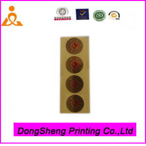 High End Personalized Paper Adhesive Sticker in Circle