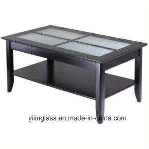 Color Pattern Printed Coffee Table Top Glass pictures & photos