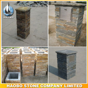 Slate Exterior and Interior Walling Wholesale Cultured Stone Columns pictures & photos