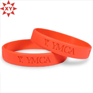 Hot Sale Gifts Red Silicone Wristband Rubber Bracelet pictures & photos