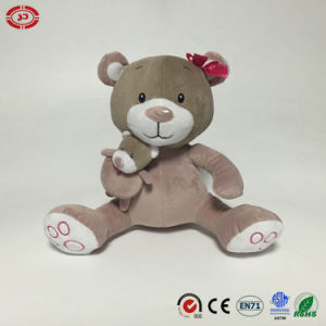 Cat with Embroidery Foot Cute Sitting Plush Soft Stuffed Toy pictures & photos
