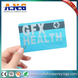Cr80 Size Clear Transparent RFID Business Card with Magnetic Stripe pictures & photos