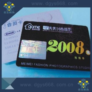 Silver Hologram Hot Stamping PVC Card pictures & photos