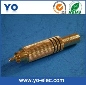 RCA Plug with Spring for 6mm Cable (YO 20-015)