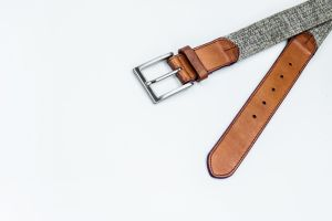 New Designed Fashion Leather-Canvas Woven Belt with Leather pictures & photos