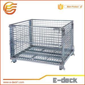 E-Deck Foldable Galvanized Wire Mesh Container