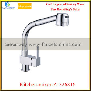 Brass Pull out Spray Kitchen Sink Mixer
