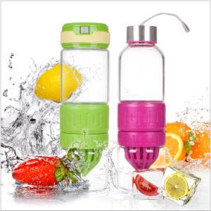 550ml Fashionable Borosilicate Glass Lemon Juice Bottle Juicer (DC-QDG-11-550) pictures & photos
