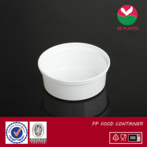 Round Plastic Food Container (AB 1008 white) pictures & photos