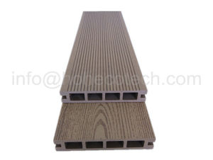 Patio Wood Flooring Pavement Anti-Splinter Crack-Free Solid PE WPC Plank pictures & photos