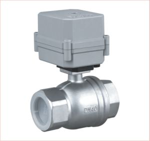 2 Way Electric Actuator Valve Motorized Stainless Steel Water Ball Valve (A100-T40-S2-C) pictures & photos