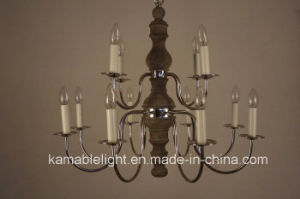 Wood Decorative Retro Chandelier Pendant Lighting (KAGD9113-8+4) pictures & photos