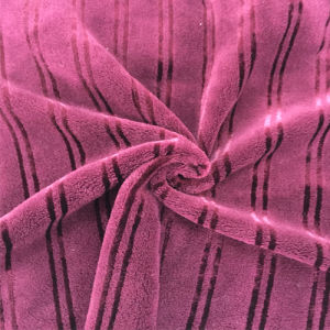 100% Polyester Bright Silk 7 Jacquard Flannel Fabric pictures & photos