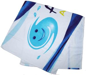 Custom Made in China Alibaba Reactive Printing Beach Towel pictures & photos