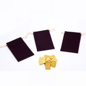 Logo Printing Velvet Drawstring Bag for Jewelry pictures & photos