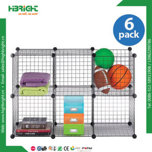 Household Wire Modular Interlocked Mesh Storage Cube Cage pictures & photos