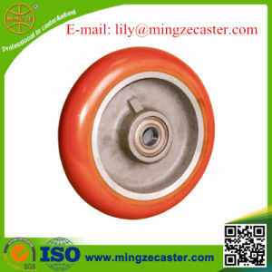 European Type Round Tread Polyurethane Cast Iron Caster Wheel pictures & photos
