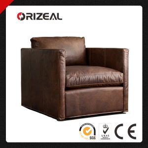 Orizeal Vintage Genuine Leather Chair with Shelter Arm (OZ-LS-2010) pictures & photos