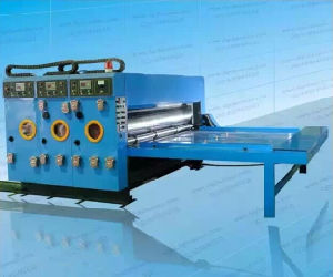 Double Colors Water Ink Printing Slotting Machine