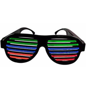 Sound Control USB LED Flashing Glasses Party Bar Fashion Eyewear Sunglasses pictures & photos