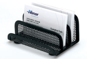Office Desk Stationery/ Metal Mesh Stationery Business Card Holder/ Office Desk Accessories pictures & photos