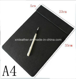 Desktop A4 PU Leather Writing Pad Board Holder for Contract pictures & photos