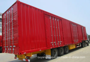 40 Feet Van Type Drop and Pull Transport Semitrailer pictures & photos