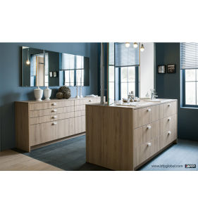 Double Cabinet Luxury Design with Blum Hardware Bathroom Cabinet pictures & photos