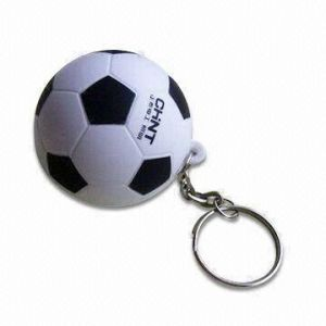 PU Stress Soccer Ball (Football) Keychain Promotional Toy