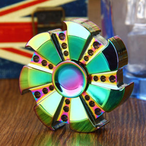 Rainbow Heptagonal Hand Spinner Metal Bearing EDC Hand Relieves Stress Finger Spinner pictures & photos
