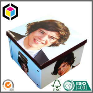 Factory Supply Metal Lock Cardboard Suitcase Paper Gift Box with Handle pictures & photos