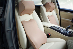Car Headrest and Back Pillow Neck Support, Waist Support-Beige pictures & photos