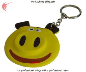 Pig Shaped Soft PVC Keychain for Gifts (YH-KC007) pictures & photos