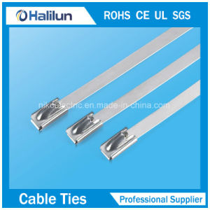Non-Electrostatic Ball Lock Stainless Steel Cable Tie Thickness 0.25mm pictures & photos