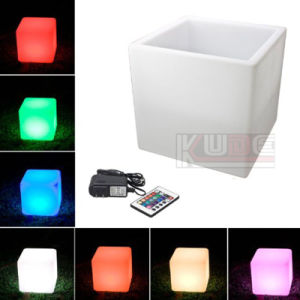"Rechargeable and Remote Control 16"" LED Cube Tool 40cm Bar Stool pictures & photos"