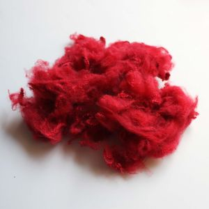 Solid Polyester Staple Fiber- Red pictures & photos